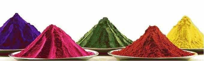 Holi를 위한 행운의 색상!