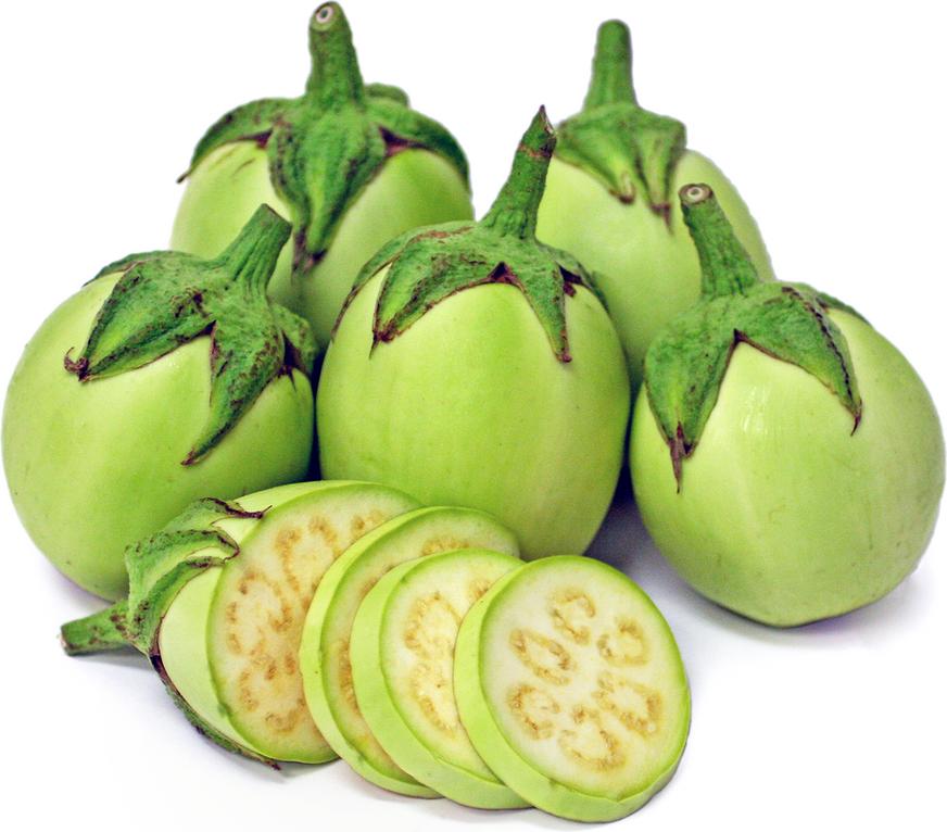 Aubergine verte pomme